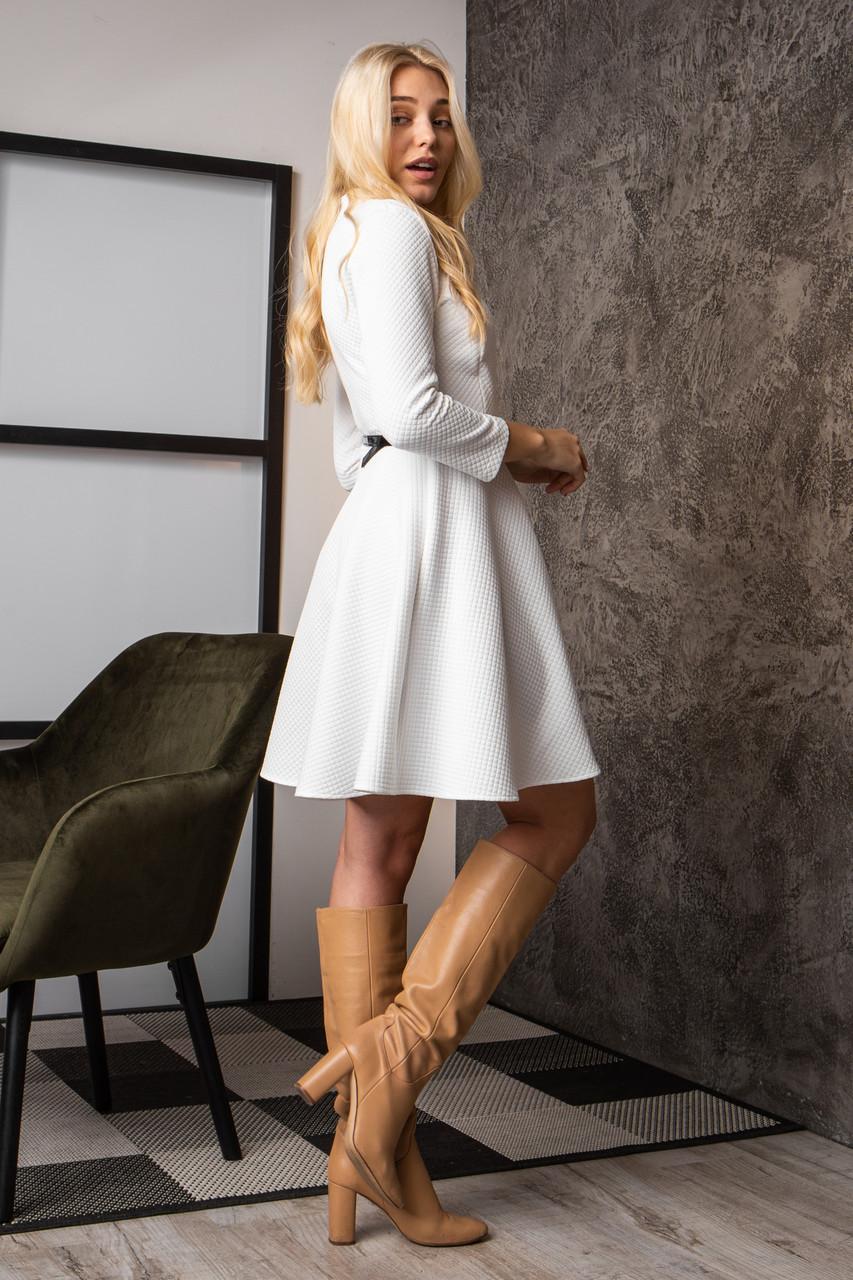 Платье  мод 742-3 размер 44,46,48 молочное, фото 4