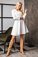 Платье  мод 742-3 размер 44,46,48 молочное, фото 1