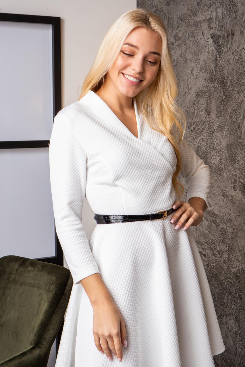 Платье  мод 742-3 размер 44,46,48 молочное, фото 2
