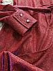 Шикарное нарядное вечернее платье мини блестящее люрекс на запах красное золотое, фото 8