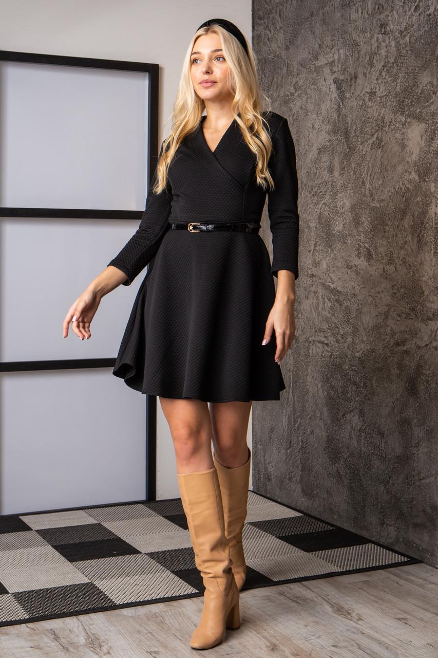Платье  мод 742-4 размер 44,46,48 черное, фото 1