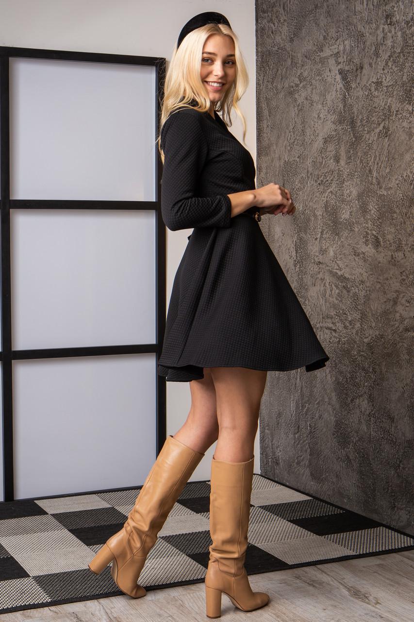 Платье  мод 742-4 размер 44,46,48 черное, фото 2