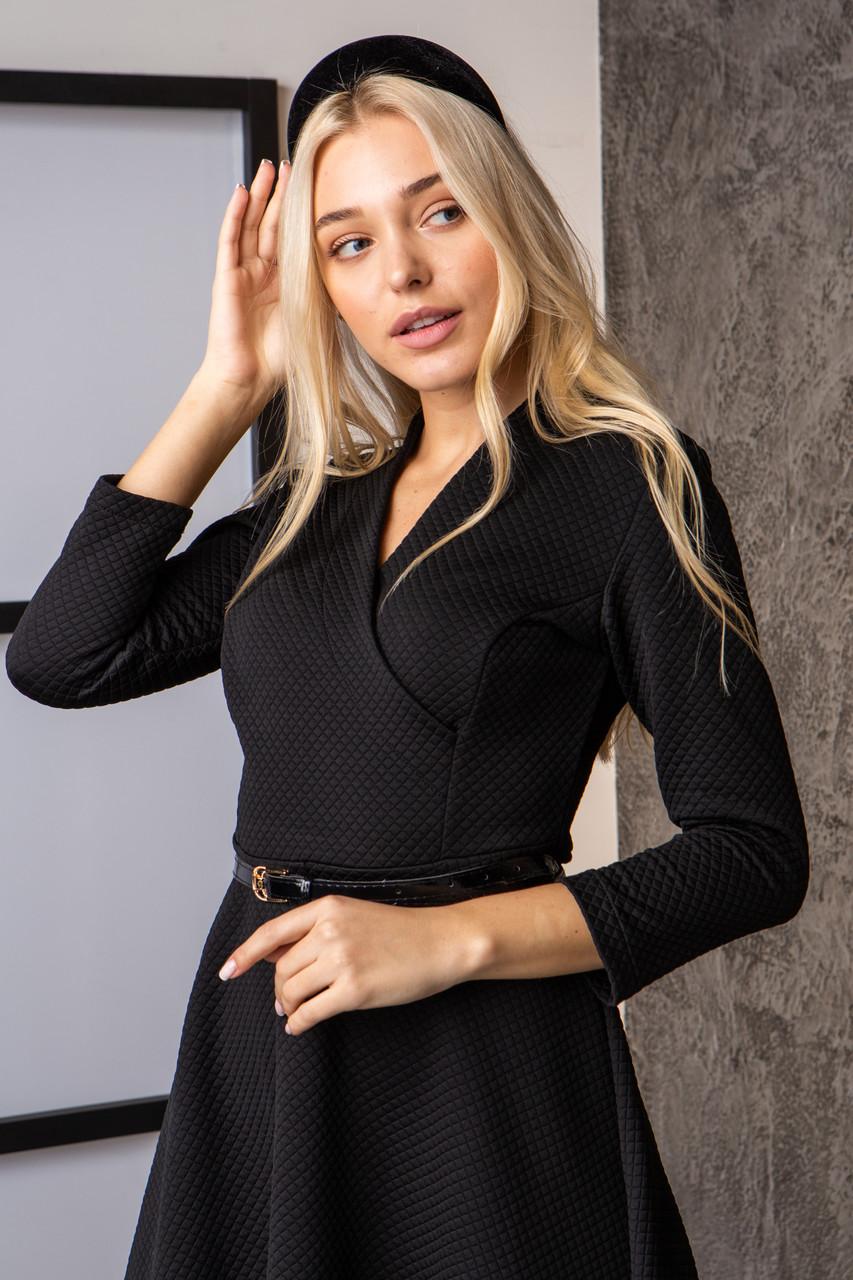 Платье  мод 742-4 размер 44,46,48 черное, фото 3