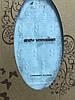 Вязаный детский плед голубой, размер 90х110 см