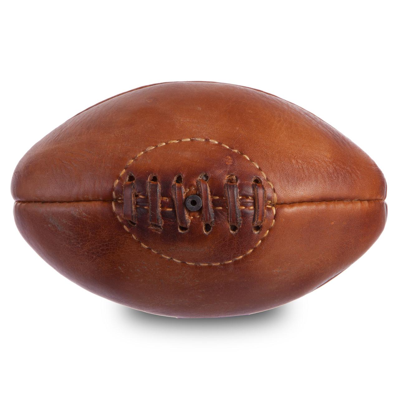 Мяч для регби сувенирный кожаный VINTAGE Mini Rugby ball
