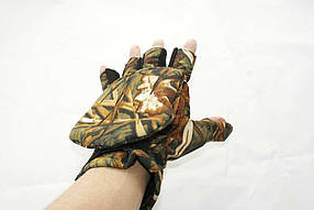 Рыболовные перчатки варежки LeRoy (камыш, Alova)