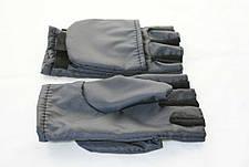 Перчатки - варежки для охоты и рыбалки LeRoy (хаки, oxford), фото 3