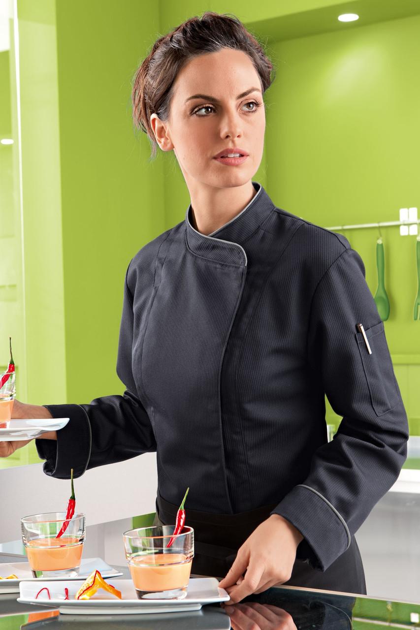Китель поварской женский TEXSTYLE на потайных кнопках белый 46-й размер
