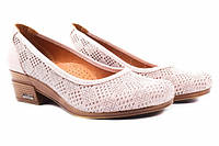 Туфли комфорт Guero натуральный сатин, цвет розовый