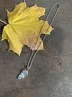 Нежная цепочка на шею из нержавеющей стали с подвеской лист