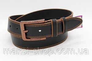 Кожаный ремень 40 мм чёрный