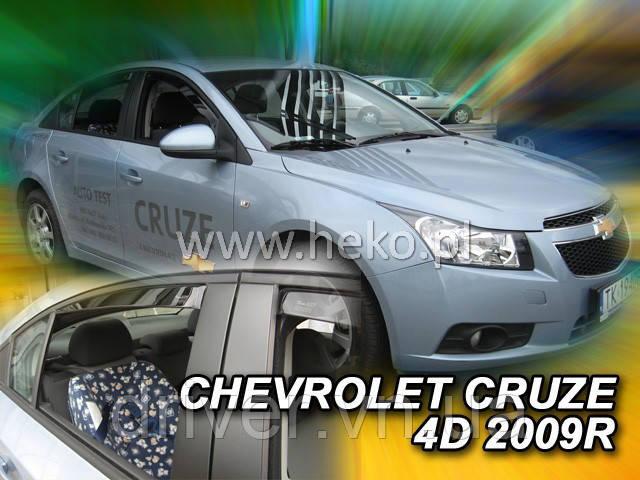 Дефлектори вікон вставні Chevrolet Cruze 2009 -> 4D