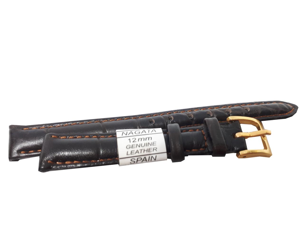 "Ремешок ""Nagata"" 12mm темно-коричневый"
