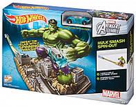 Hot wheels Marvel Avengers Assemble™ Hulk Smash Spin-Out Трек хот вилс Мстители Халк