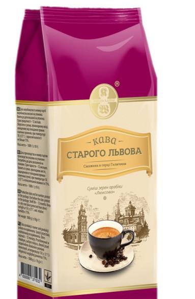 Кофе зерновой Кава Старого Львова Люксова 1000 г
