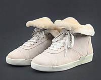 Ботинки женские Chanel D8974 бежевые