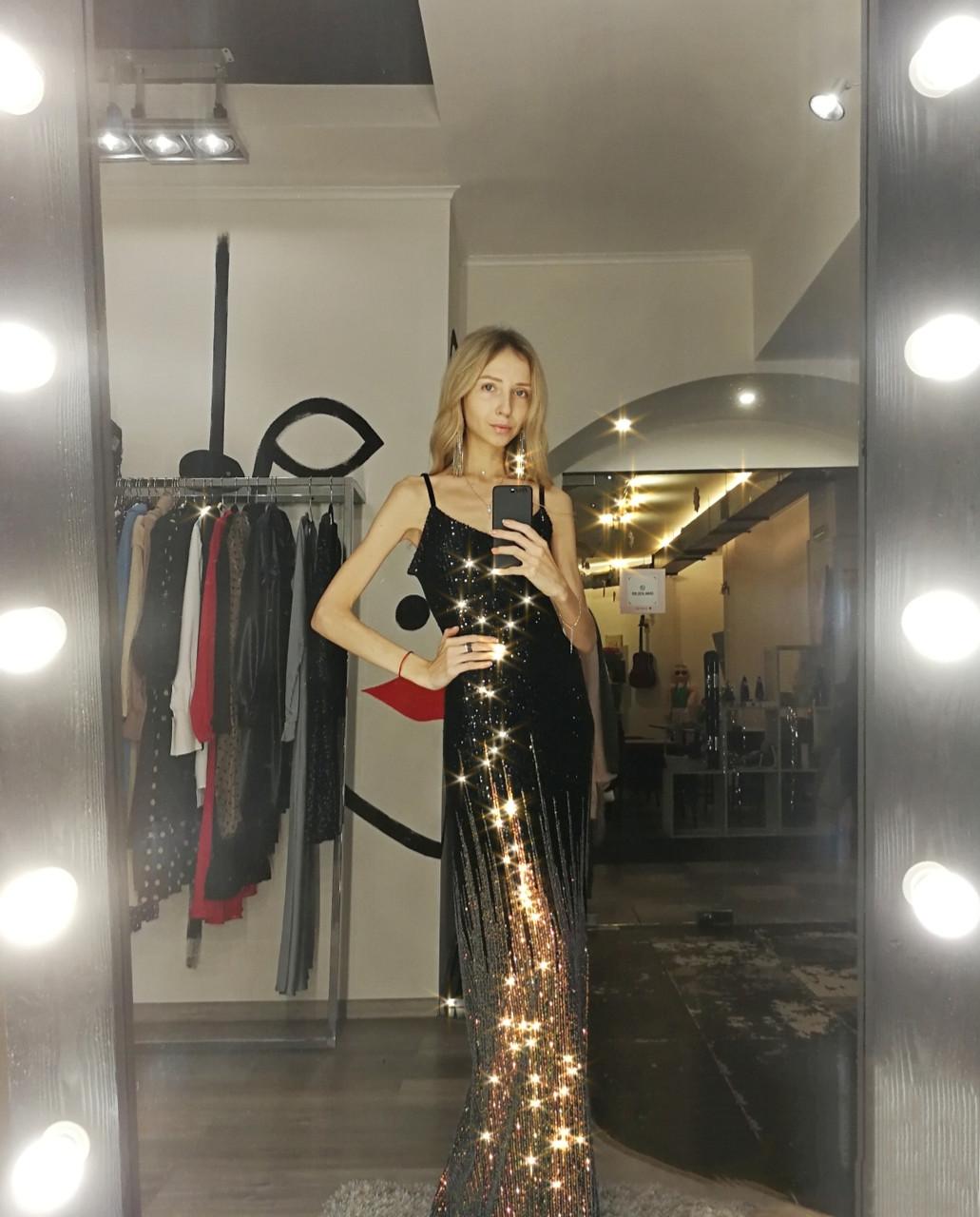 Шикарное сексуальное блестящее облегающее платье с пайетками на бретелях нарядное черное золотое длинное