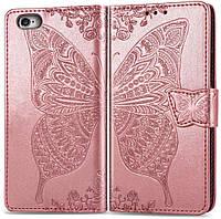 Чехол Butterfly для iPhone 7 / 8 Книжка кожа PU кремовый, фото 1