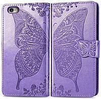 Чехол Butterfly для iPhone 6 Plus / 6s Plus Книжка кожа PU сиреневый, фото 1