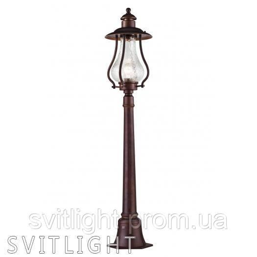 Фонарь уличный столб S104-119-51-R Германия. Корпус из металла, устойчивый к перепадам температуры
