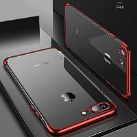 Прозрачный,противоударный силиконовый чехол  для iPhone 6Plus 6SPlus