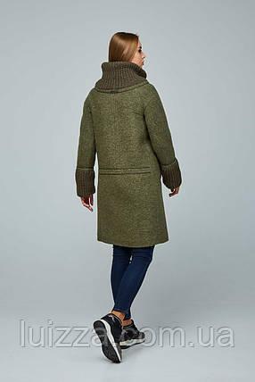 Стильное женское пальто 44-54р, фото 2