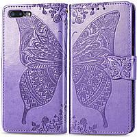 Чехол Butterfly для iPhone 7 Plus / 8 Plus Книжка кожа PU Сиреневый, фото 1