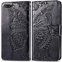 Чехол Butterfly для iPhone 7 Plus / 8 Plus Книжка кожа PU Черный, фото 1