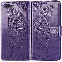 Чехол Butterfly для iPhone 7 Plus / 8 Plus Книжка кожа PU Фиолетовый, фото 1