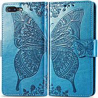 Чехол Butterfly для iPhone 7 Plus / 8 Plus Книжка кожа PU Голубой, фото 1