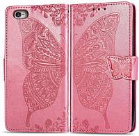 Чехол Butterfly для IPhone 6 / 6s Книжка кожа PU розовый, фото 1