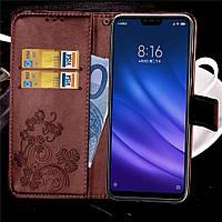 Чехол Clover для Xiaomi Mi 8 Lite Книжка кожа PU коричневый, фото 1