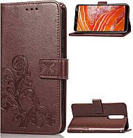 Чехол Clover для Nokia 5 Книжка кожа PU коричневый