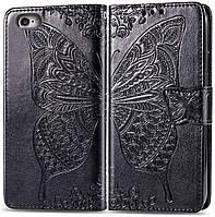 Чехол Butterfly для iPhone 6 Plus / 6s Plus Книжка кожа PU черный, фото 1