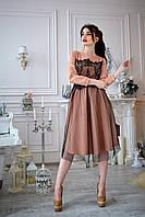 Платье  мод 735-3 ,размер 44,46,48,50 карамель