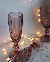 Набор бокалов Кубок DS Vintage Pink для шампанского 180 мл 6 шт Розовый, фото 1