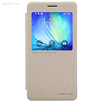 Чехол Nillkin Sparkle Leather Case для Samsung Galaxy A7 (A700) Shampaign Gold
