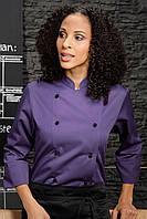 Китель двубортный TEXSTYLE поварской женский фиолетовый 52-й размер
