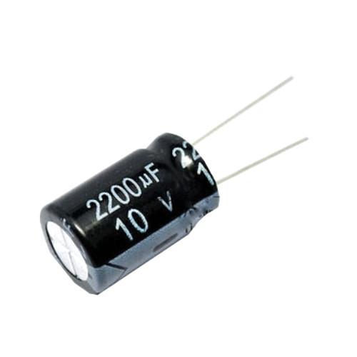 10x Конденсатор электролитический алюминиевый 2200мкФ 10В 105С