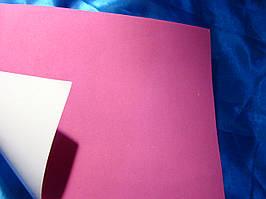 Фоаміран на клейкій основі  (Китай) 1,8 мм  рожевий