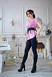 Блузка женская мод. №428-1, размеры 44,46 розовая, фото 2