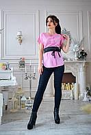 Блузка женская мод. №428-1, размеры 44,46 розовая