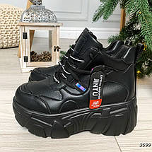 Черные массивные кроссовки женские, фото 2