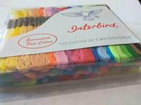 Нитки для вишивання муліне, набір 100 мотків (50 кольорів) по 8 м