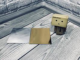 *100 шт* / Подложка под пирожное  Золото-серебро, 100х100мм/мин 100 шт