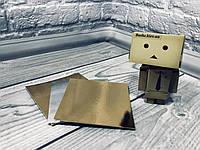 *100 шт* / Подложка под пирожное  Золото-серебро, 100х100мм/мин 100 шт, фото 1
