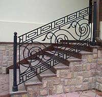 Перила кованые на балкон лестницу ступеньки