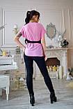 Блузка женская мод. №428-1, размеры 44,46 розовая, фото 3