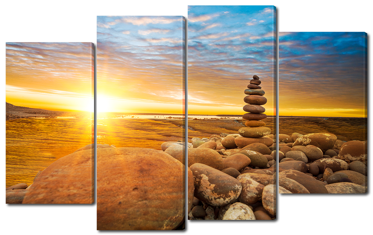 Модульная картина Interno Эко кожа Башня из камней 166x120см (A2498XXL)