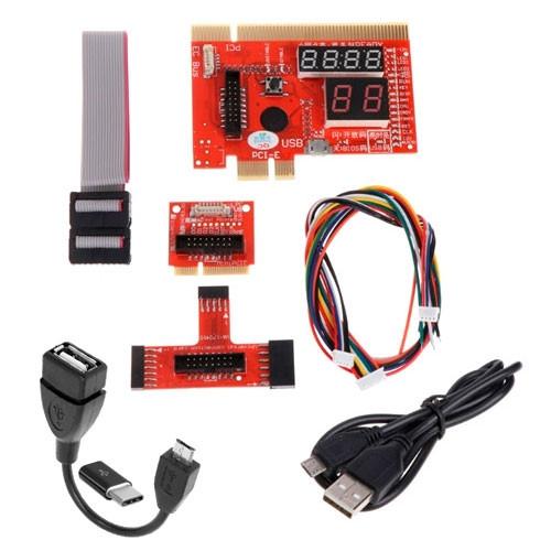 POST карта KQCPET6 V6 тип B, PCI PCI-E MicroUSB mini PCI-E LPC Android